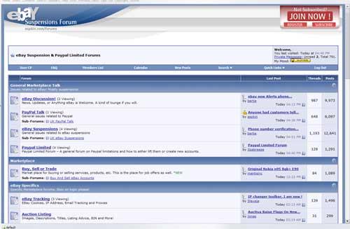 ebay Suspension Forum