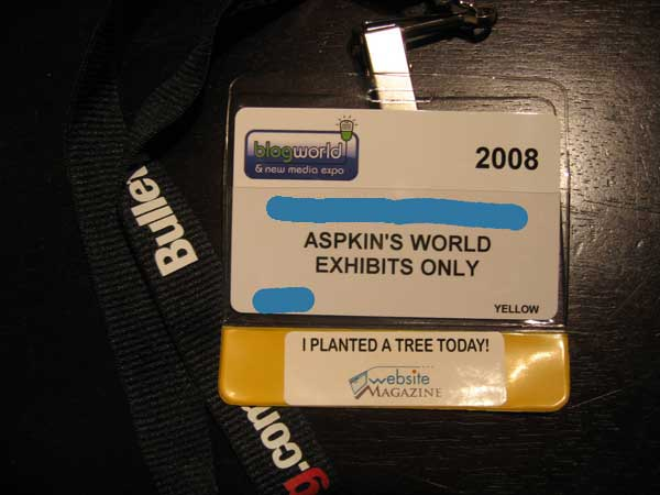 BlogWorld Badge