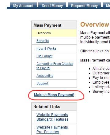 Make Mass Payment